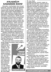 Kurucumuz Cesur Ceylan Yazdı... Samsun Haber Gazetesi